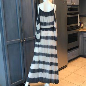 Elan Swim - Elan Stripe Maxi Cold Shoulder Dress
